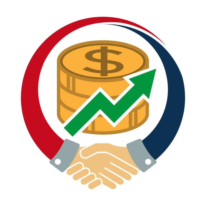 Icon Logo / Illustration With Concept Of Economic Cooperation